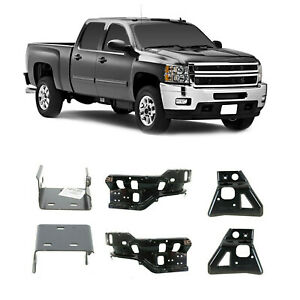 New Set Of 6 Front Bumper Brackets Inner Outer For Silverado 2500 Hd 2011 2014