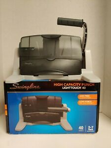 Swingline 74357 High Capacity Lighttouch 40 Hole Punch Jam Free