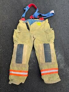 Morning Pride Fire Fighter Turnout Pants W Suspenders 40x32 Good Condition