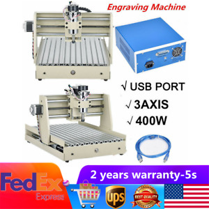 400w 3 Axis Usb 3040 Cnc Router Engraver Engraving Wood Carving Milling Machine