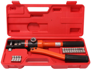 Wbhome Hydraulic Wire Crimper Battery Lug Terminal Cable Crimping Tool 8 Dies