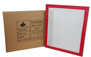 20 X 24 Inch Pre stretched Aluminum Silk Screen Printing Frames With 110 Whit