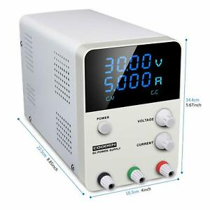 Coodenkey Variable Dc Bench Lab Power Supply 0 30v 0 5a 4 digit Led Display