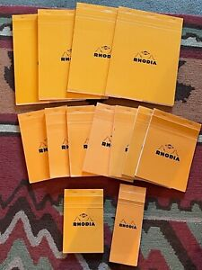 Rhodia Alvin Notepads Orange Graph Paper 13 Pads Assorted Sizes New Pre owned