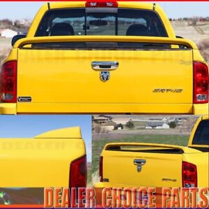For 2002 2008 Dodge Ram 1500 Srt10 Style Truck Bed Rear Spoiler Wing Unpainted
