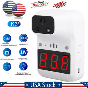 Fast Wall Mount Digital Infrared Thermometer Automatic No Contact Forehead Usa