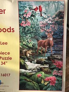 SUNSOUT Jigsaw Puzzle A Deer In The Woods Yuan Lee 1000 Piece 16 X 34 Animals $9.99