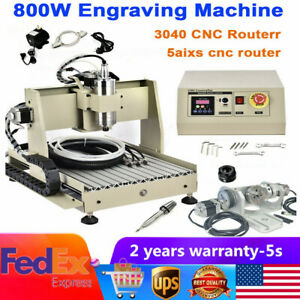 800w Usb 5axis 3040 Cnc Router Engraver Engraving Metal Carving Milling Machine