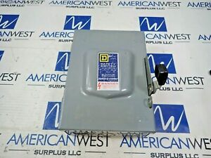 Square D D 321 n Safety Switch 30a 240vac Fusible