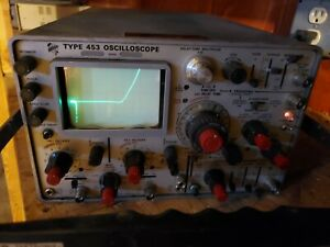 Tektronix Type 453 2 channels 50 Mhz Oscilloscope With Faceplate Cover brc3