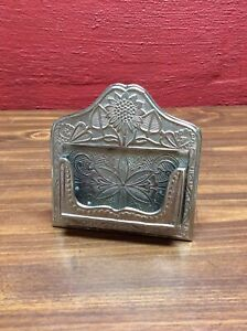 Art Deco Style Heavy Metal Business Card Holder