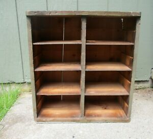 Vintage Table Talk Pie Display Wooden Crate With Shelves Rustic Primitive Look