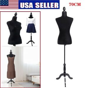 Half length Female Mannequin Lady Model For Clothing Display W Tripod Stand Us