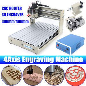 4 Axis 3040t Cnc Router Engraver Engraving Cutting Milling Machine 400w T screw