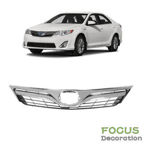 For Toyota Camry 2012 2013 2014 Le Xle Front Upper Chrome Grille Mesh Type Grill