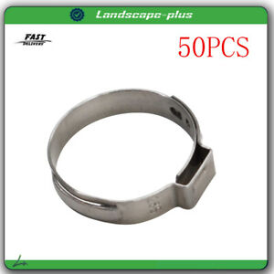 50pcs 1 Pex Stainless Steel Clamp Cinch Ring Crimp Pinch Fitting Tubing Us