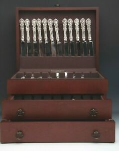 Francis I By Reed Barton 89 Piece Set Of Sterling Silver Flatware With Chest