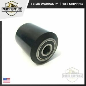 Pallet Jack Poly Load Wheel Roller Assembly 60181 a On Steel Hub With Bearings