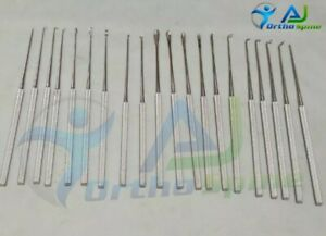 Rhoton Micro Dissector Expanded Set 19 Pieces Neurosurgery Surgical Instruments
