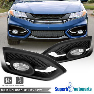 For 2014 2015 Honda 14 15 Civic 2dr Coupe Fog Lights Bumper Driving Lamp Switch