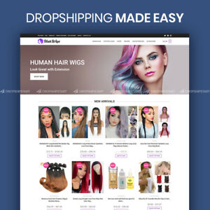 Hair Wigs Dropshipping Store Ready To Go Website Turnkey Business For Sale
