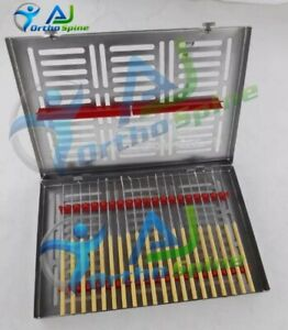 Rhoton Micro Dissector Set 20 Pieces With Gold Neurosurgery Surgical Instruments