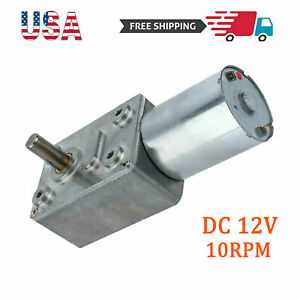 Electric Torque Turbo Worm High Geared Motor Low Speedy Reversible Dc 12v 10rpm
