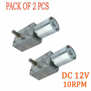 Speedy 2pack Motor Low High Torque Turbo Worm Geared Reversible Dc 12v 10rpm