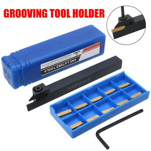 Mgehr1212 2 Lathe Grooving Tool Holders Cut off 12x12x100mm 10mgmn200 Inserts