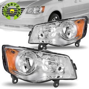 Headlights For 2011 2019 Dodge Grand Caravan 2008 16 Chrysler Town Country Lamps Fits 2011 Chrysler Town Amp Country