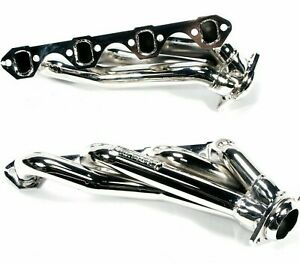 Bbk 1515 Unequal Length Shorty Headers 1 5 8 Chrome For 86 93 Ford Mustang 5 0l