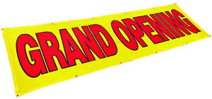 3x10 Ft Grand Opening Banner Sign Store Sale Polyester Fabric Yb