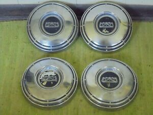 68 69 70 71 72 73 74 Ford Dog Dish Hub Caps 10 12 Set Of 4 Hubcaps Fits Ford