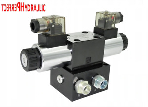 Hydraulic Valve Control Solenoid Valve 1 Section Cetop 03 Ng6 60l Min 12v