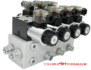 Hydraulic Valve Control Valve 3 Section unloading Cetop 03 Ng6 60l Min 12v