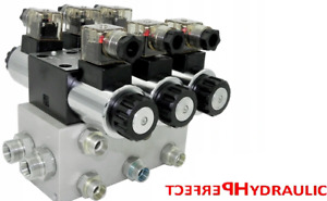 Hydraulic Valve Control Solenoid Valve 3 Section Cetop 03 Ng6 60l Min 12v