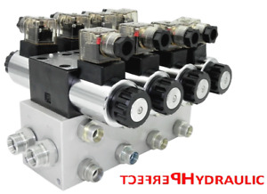 Hydraulic Valve Control Solenoid Valve 4 Section Cetop 03 Ng6 60l Min 12v