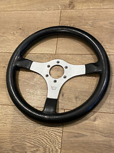 Superior Industries Crown Steering Wheel Horn Button Vintage 1980s Made In Italy