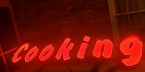 Commercial Resterant Advertising Outside Industrial Cooking Neon Sign Works