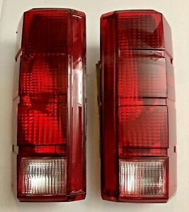 Tail Light Set For 1980 1986 Ford F 150 Clear Red Lens Pair New