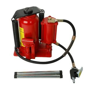 New Pneumatic Air Hydraulic Bottle Jack With Manual Hand Pump 20 Ton 40000 Lb