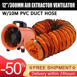 Flameproof 12 520w Axial flow Fans Exhaust Fan Axial Blower With 10m Duct Hose