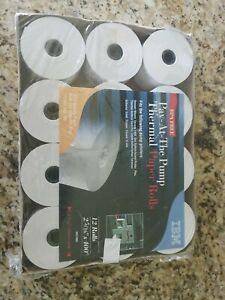 Ibm Pay at the Pump Thermal Paper Rolls 12 Count 2 5 16 In X 400 Ft