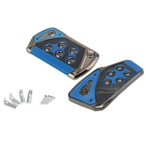 Blue Automatic Car Interior Foot Rest Pedals Brake Pad Cover Car Accessories At
