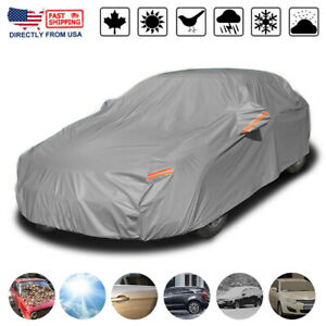 Heavy Duty Waterproof Full Car Cover All Weather Protection Outdoor Dustproof Us Fits Bmw