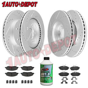 Front Rear Anti Rust Coated Brake Rotors Pads For 2005 2010 Ford Mustang V6