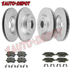 Front Rear Anti Rust Brakes Rotors Pads For 2004 2012 Chevrolet Chevy Malibu