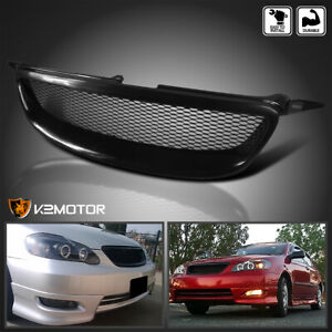For 2003 2008 Toyota Corolla 1pc Front Bumper Mesh Style Grill Hood Grille Black Fits 2004 Corolla
