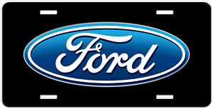 Front License Plate With Ford Emblem On Black Ford Vanity Tag Man Gift 4120