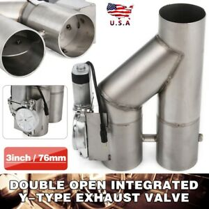 3 76mm Electric Exhaust Downpipe Cutout E Cut Out Dual Valve With Remote Control